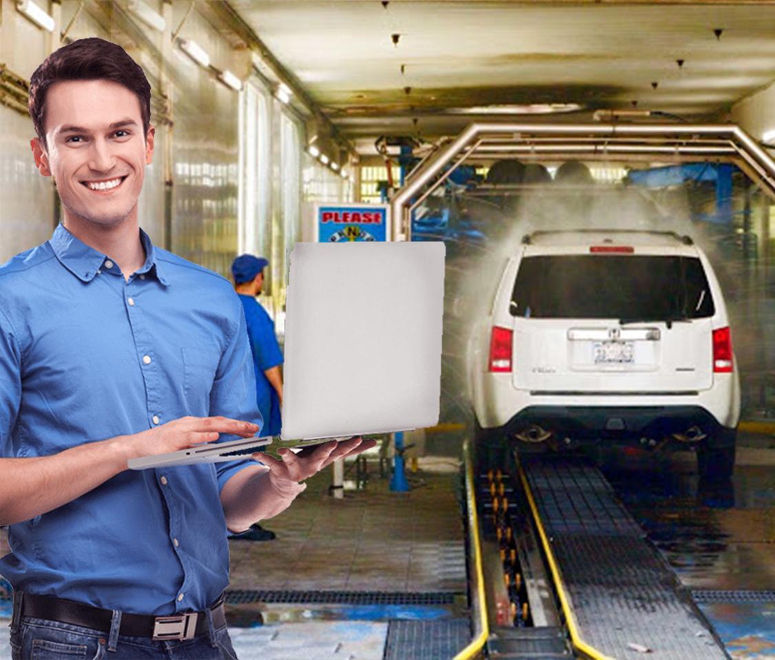 Car wash management software